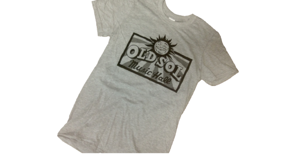Image of Old Sol Music Hall -- Adult T-Shirt (Grey)