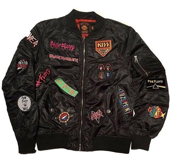 """Image of Rock Hard Vintage """"Hall Of Fame"""" Bomber Jacket """"Black"""""""