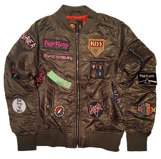 """Image of Rock Hard Vintage """"Hall Of Fame"""" Bomber Jacket """"Green"""""""