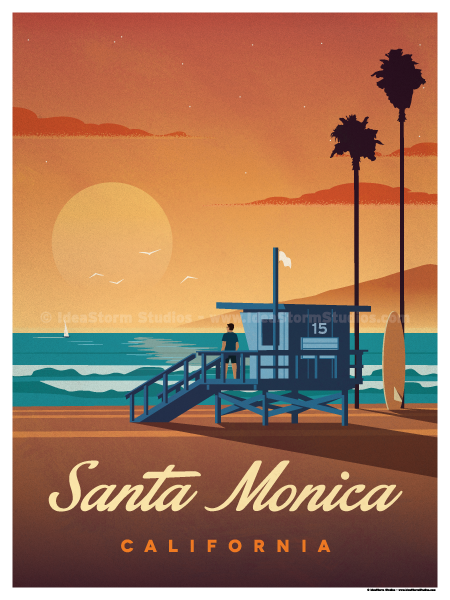 Image of Santa Monica Poster