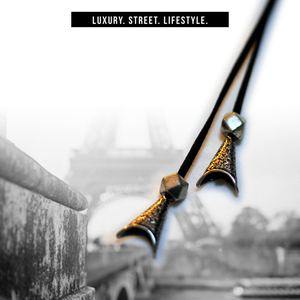 "Image of  ""Parisian"" Men's Choker  (Black/Silver)"