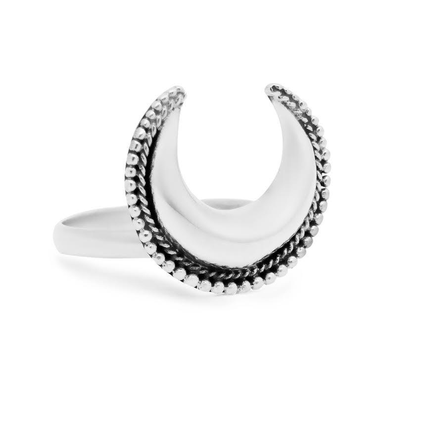 Image of Sterling Silver Luna Goddess Ring