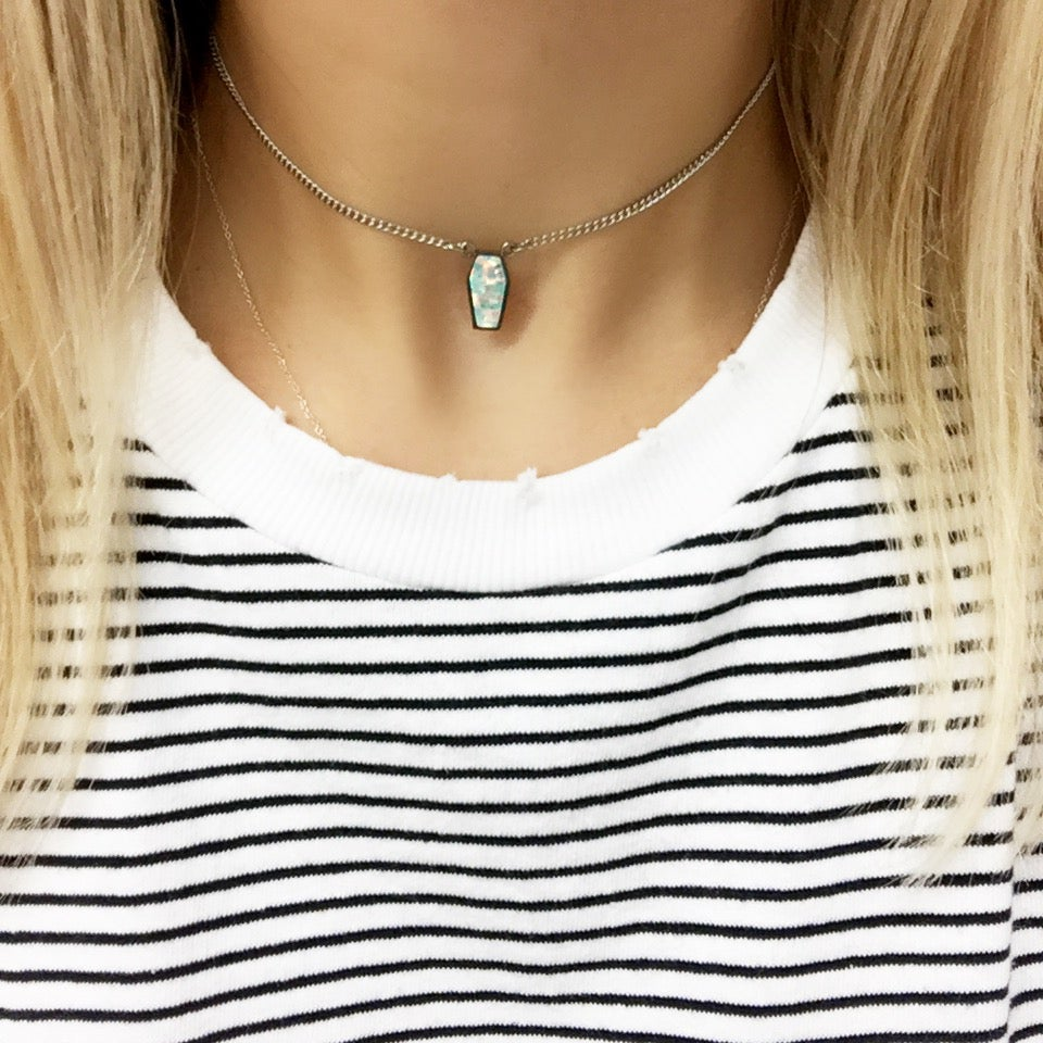 Image of Dainty Opal Coffin Choker