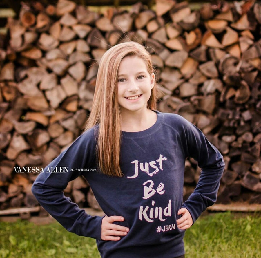 Image of Just Be Kind #JBKM - Girls French Terry