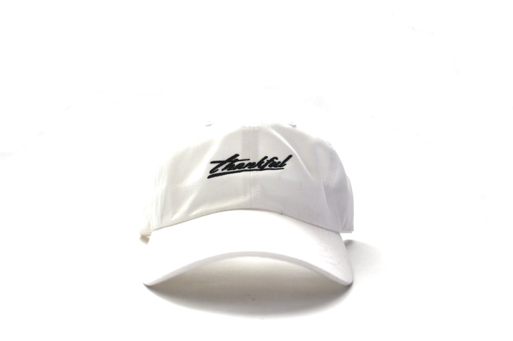 Image of low profile Thankful signature (WHITE)