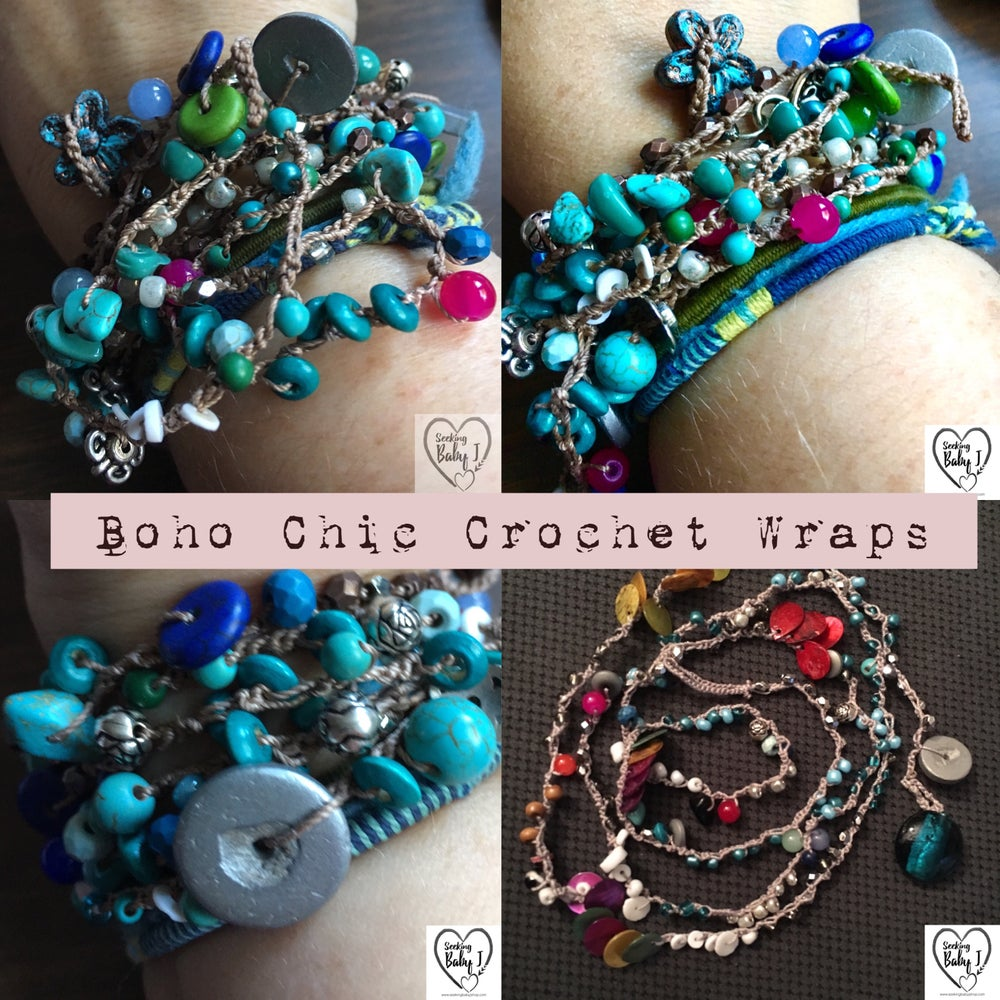 Image of Boho Chic Crochet Wrap-Color Choice!
