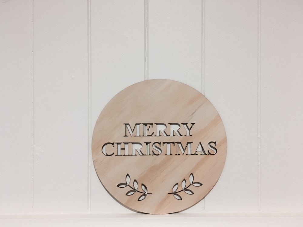 Image of MERRY CHRISTMAS PLAQUE
