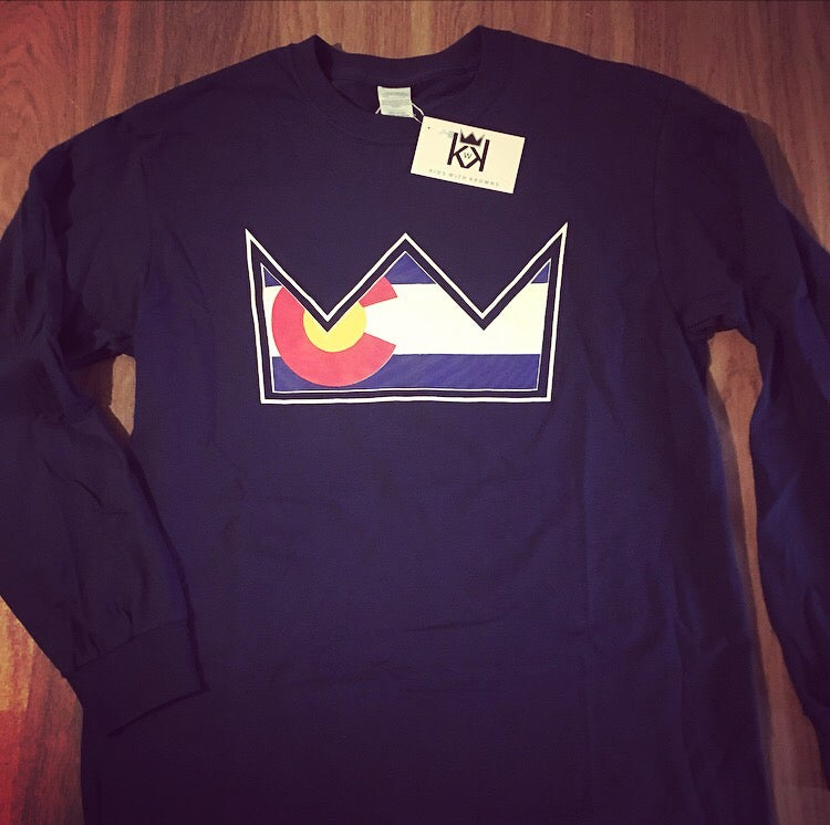 Image of CO Krown Long Sleeve T - Navy & Red