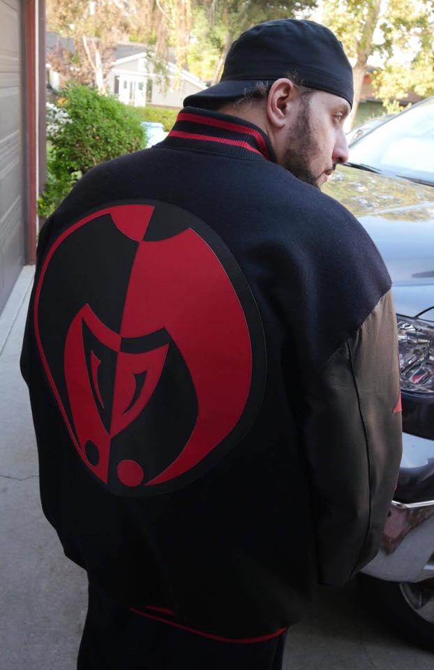 Image of RED on BLACK Legacy Letterman Jokerr Jacket