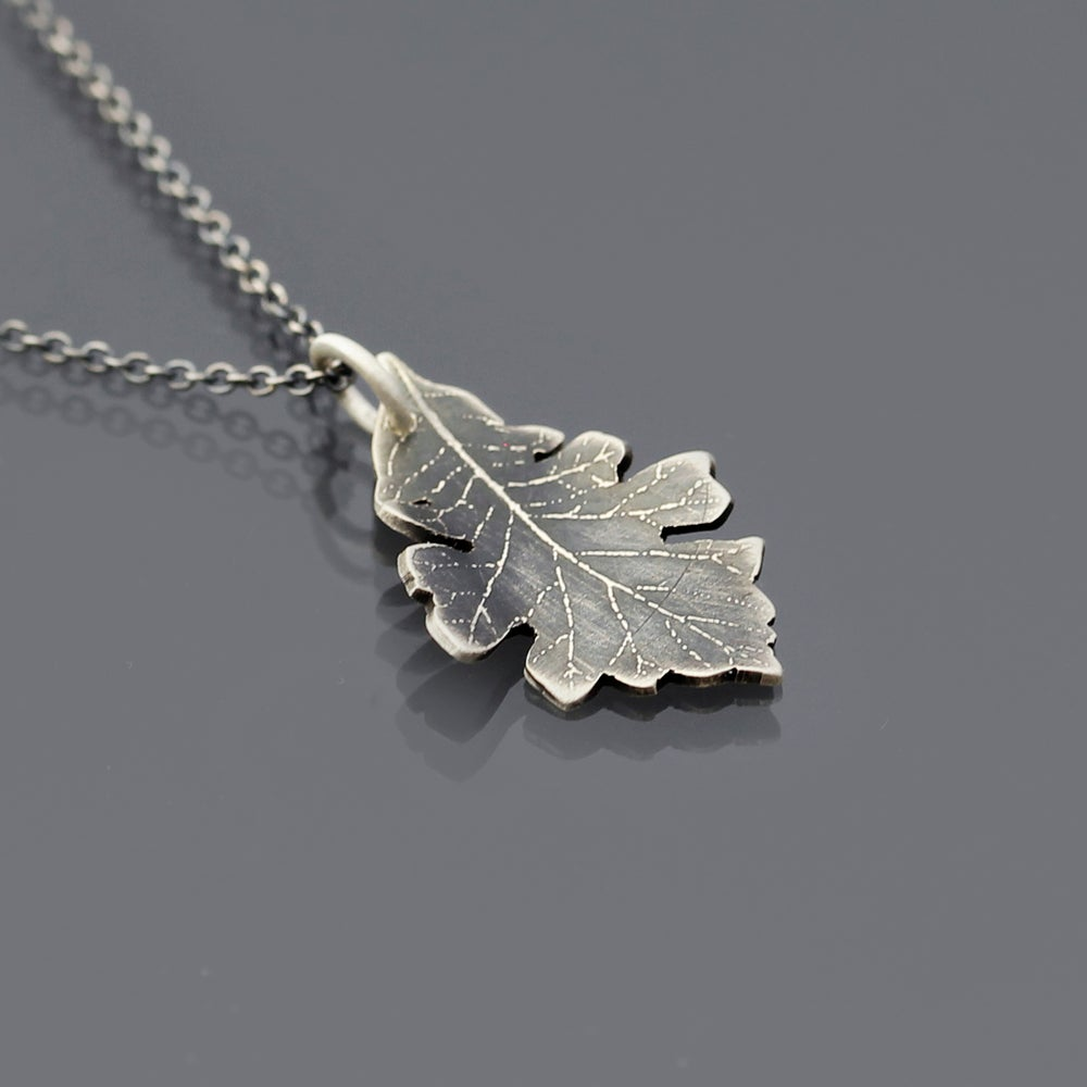 Image of Small Bur Oak Leaf Necklace