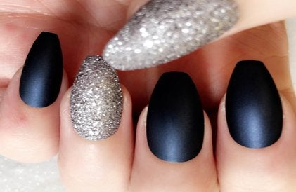 Image of Navy Matte Sparkle