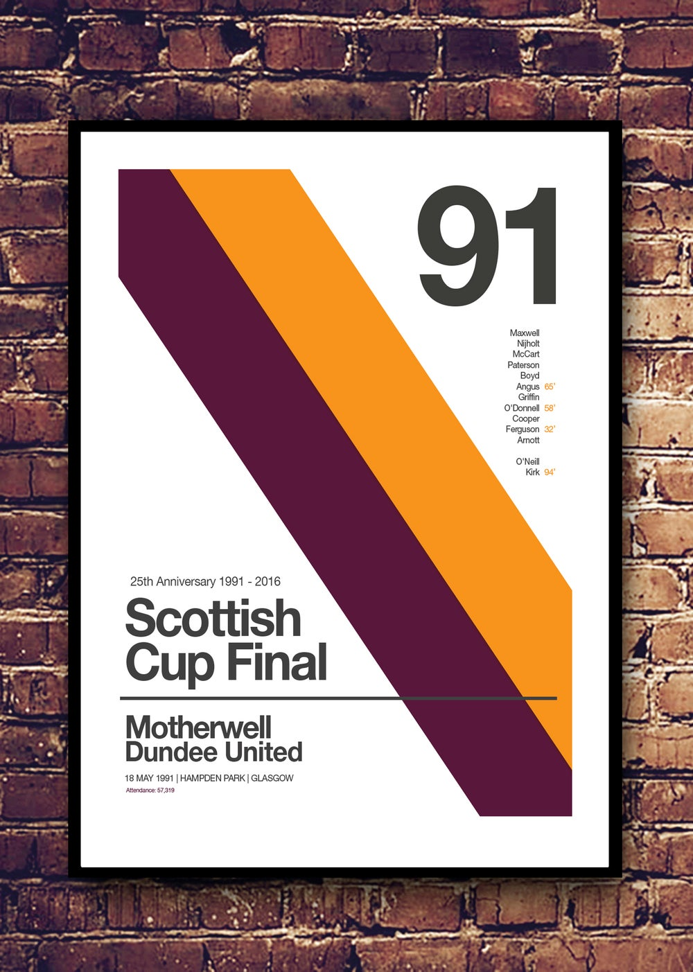 Image of MOTHERWELL 25TH ANNIVERSARY - PRINT