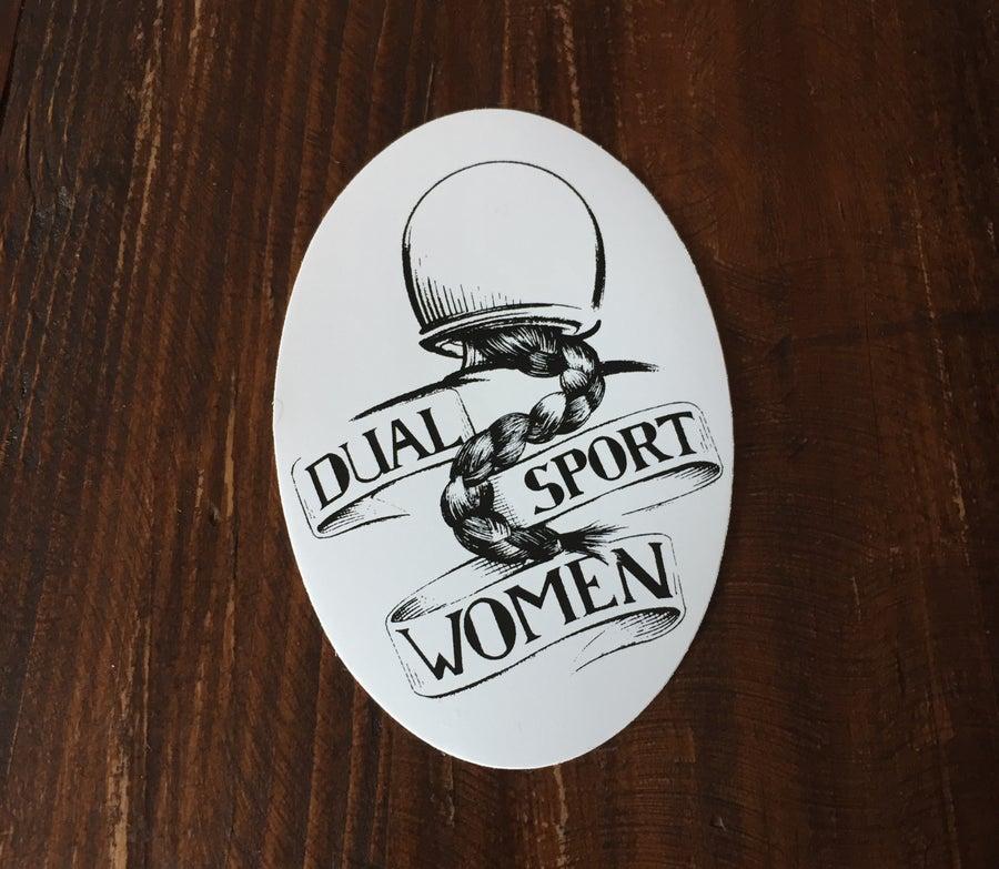 Image of  Vintage Dualsport Women Sticker w/ free shipping