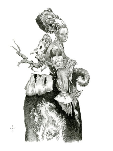 Image of NIGHT DRESS (giclee print signed by the artist)