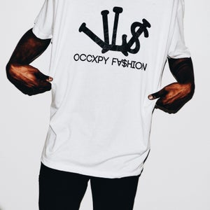 Image of White/Black VL$ OCCXPY Fx$hion Tee