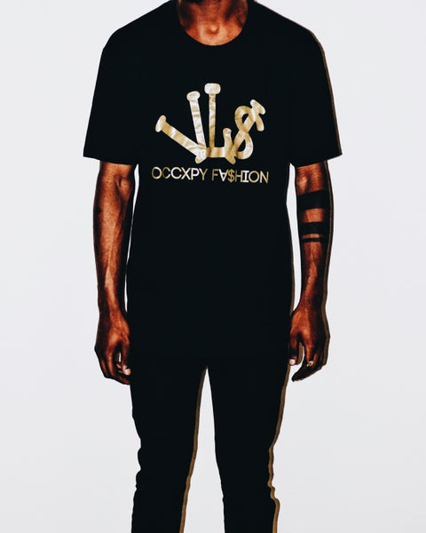 Image of Black/Gold VL$ OCCXPY Fx$hion Tee