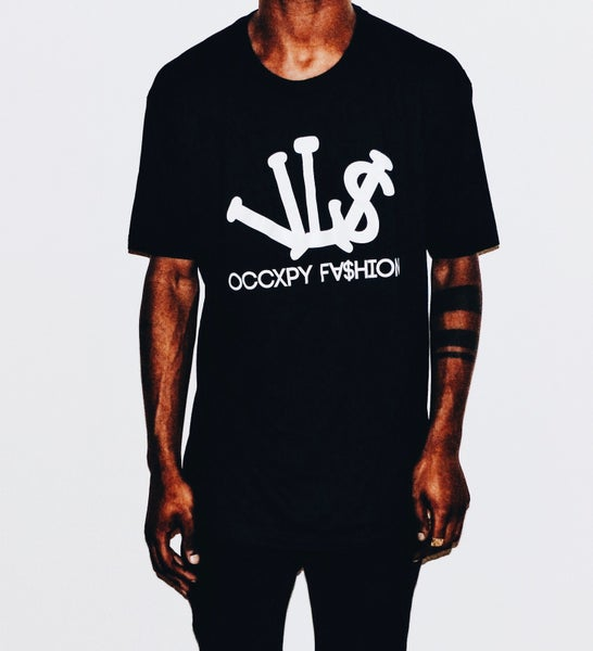Image of Black/White VL$ OCCXPY Fx$hion Tee