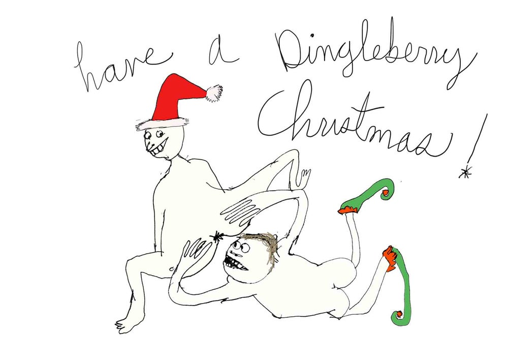Image of Dingleberry Christmas Card