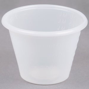 Image of 1 oz. Disposable Polypropylene Graduated Cups <p>100 pc.