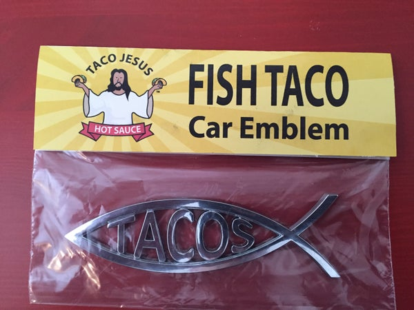 Image of Taco Jesus Fish Taco Car Emblem