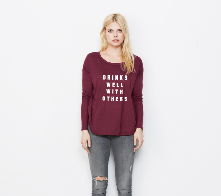 Image of DRINKS WELL Flowy L/S tee