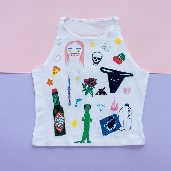 Image of Art Baby Girl Crop Top