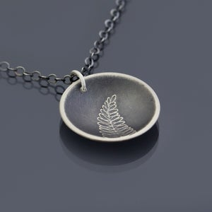Image of Sterling Silver Fern Necklace