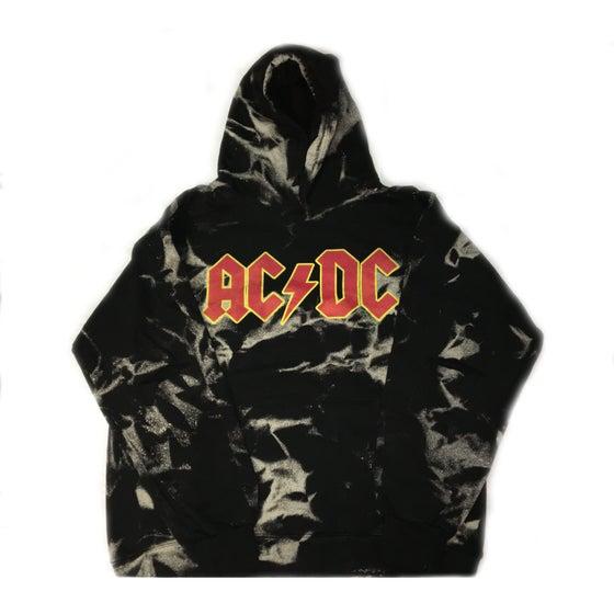 """Image of Rock Hard Vintage """"ACDC"""" Distressed Hoodie"""