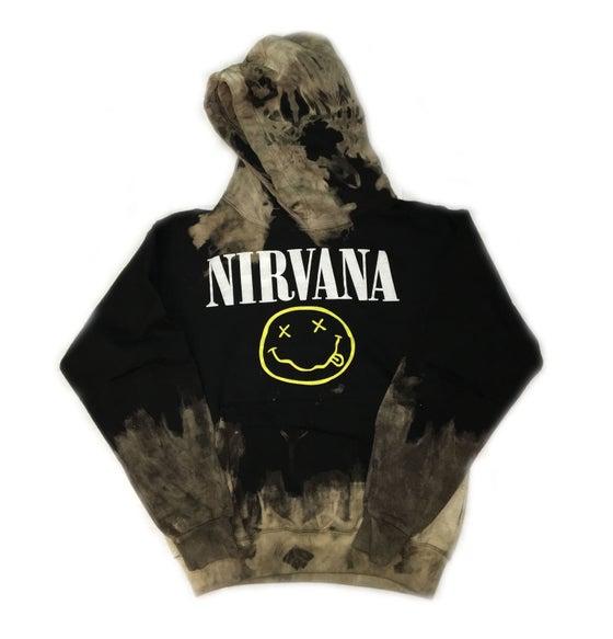 """Image of Rock Hard Vintage """"Nirvana"""" Distressed Hoodie"""