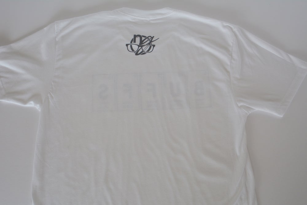Image of periodic buffs. - white graphic tee