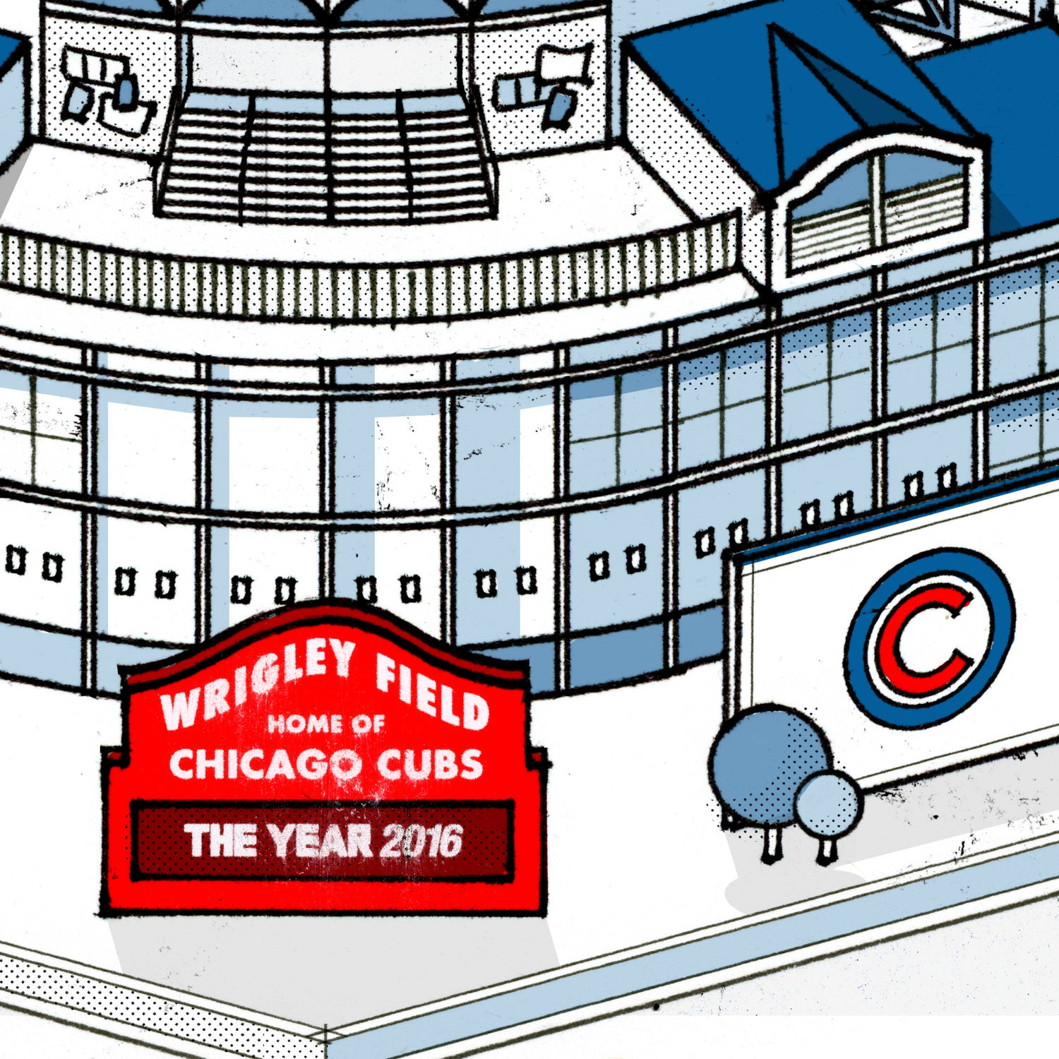 Image of Wrigley Field World Series Poster