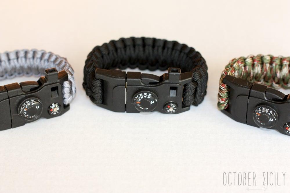 Image of DELUXE Survival Bracelet | Flint, Fish Hook, Whistle +More