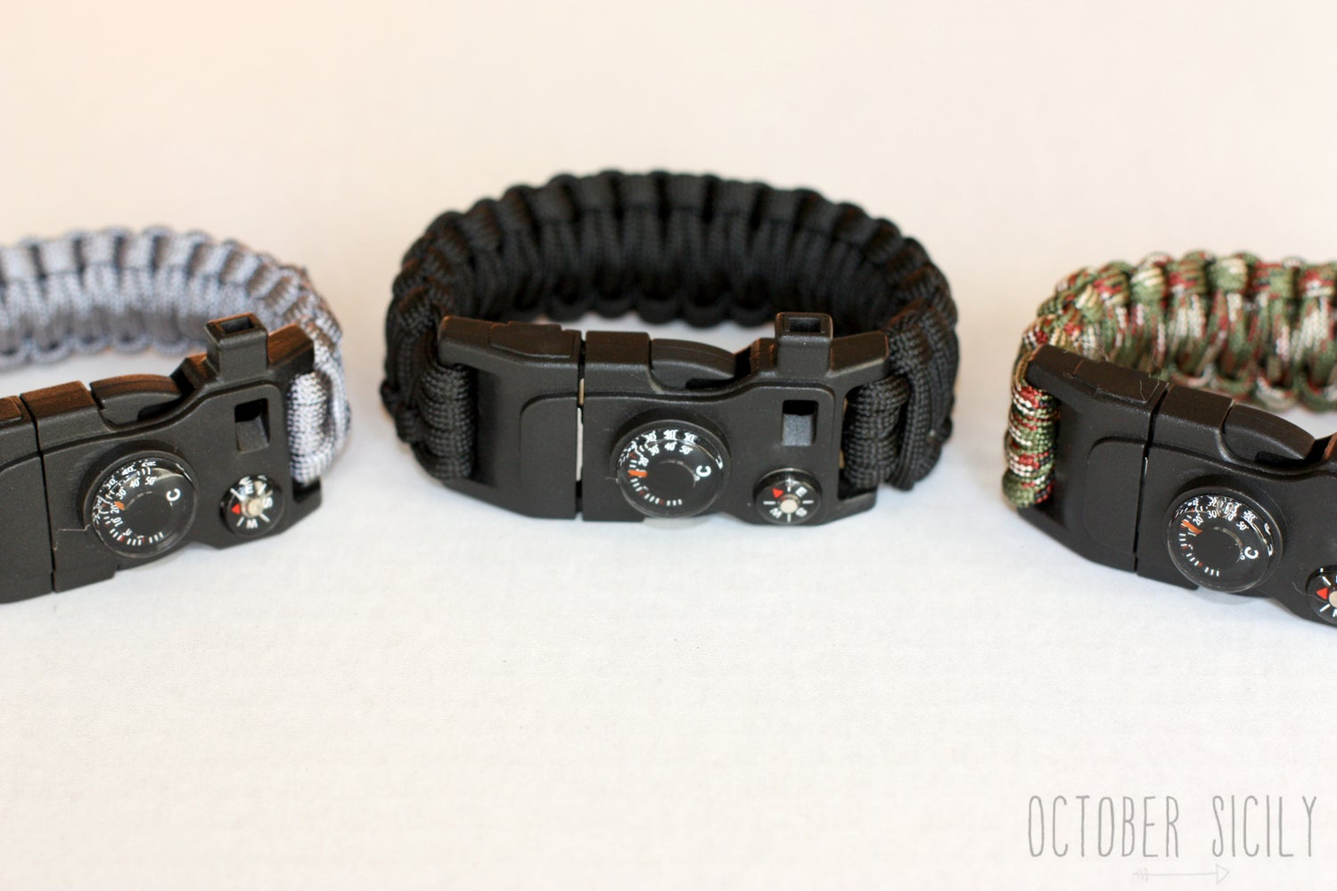 Image of DELUXE Survival Bracelet | Flint, Fish Hook, Whistle +More
