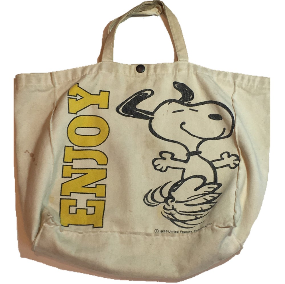 Image of Enjoy snoopy tote bag