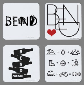 Image of Bend Assorted Coasters - set of 4