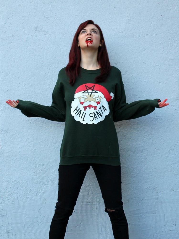 Image of Printed Hail Santa Sweaters- ON SALE