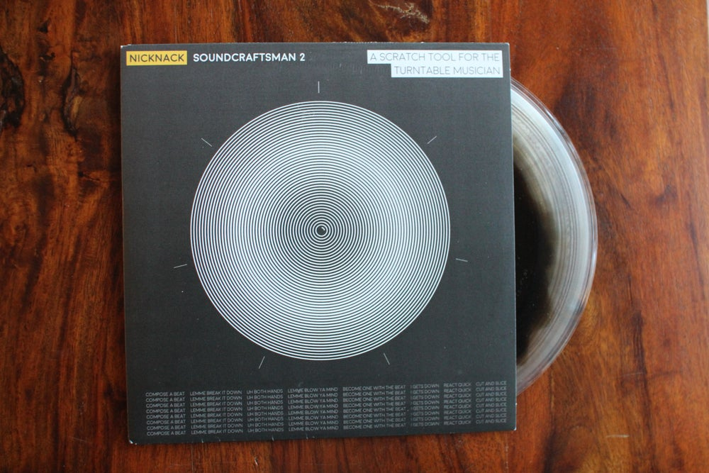 """Image of NICK NACK - SOUNDCRAFTSMAN 2 (clear/black inlay 7"""" Scratch Record)"""