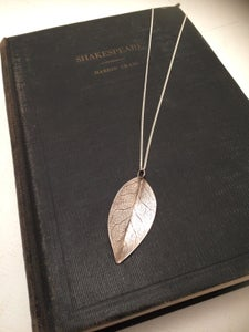 Image of Zula- Silver Leaf Necklace