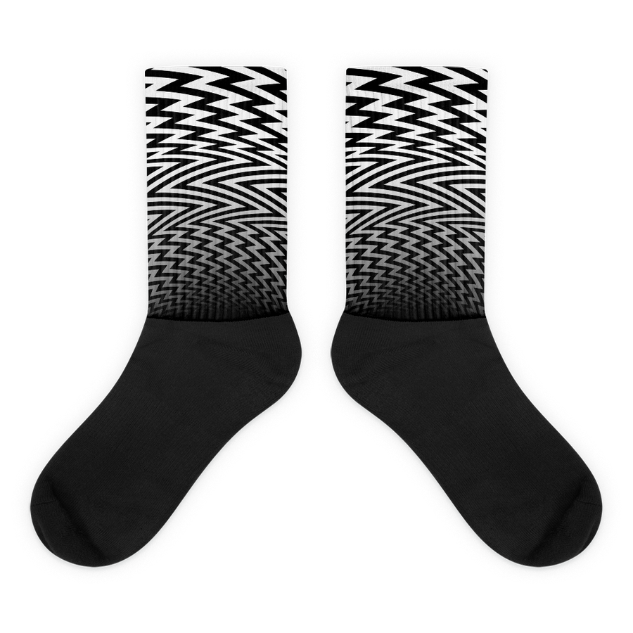Image of ZigZag Wanderer Socks - Monochrome