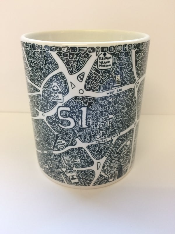 Image of Sheffield Doodle Map Mug