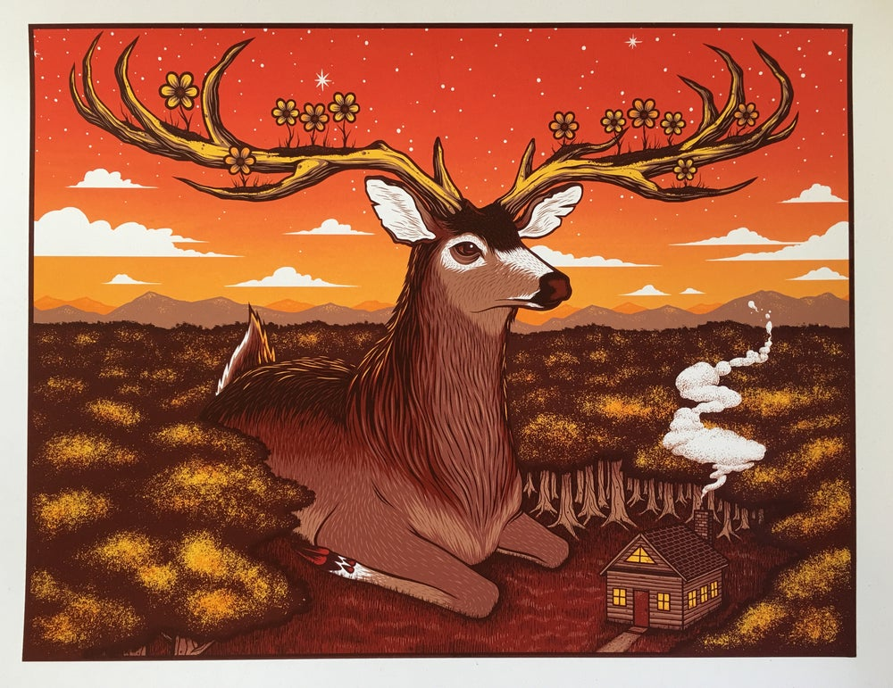 Image of Giant Deer Art Print