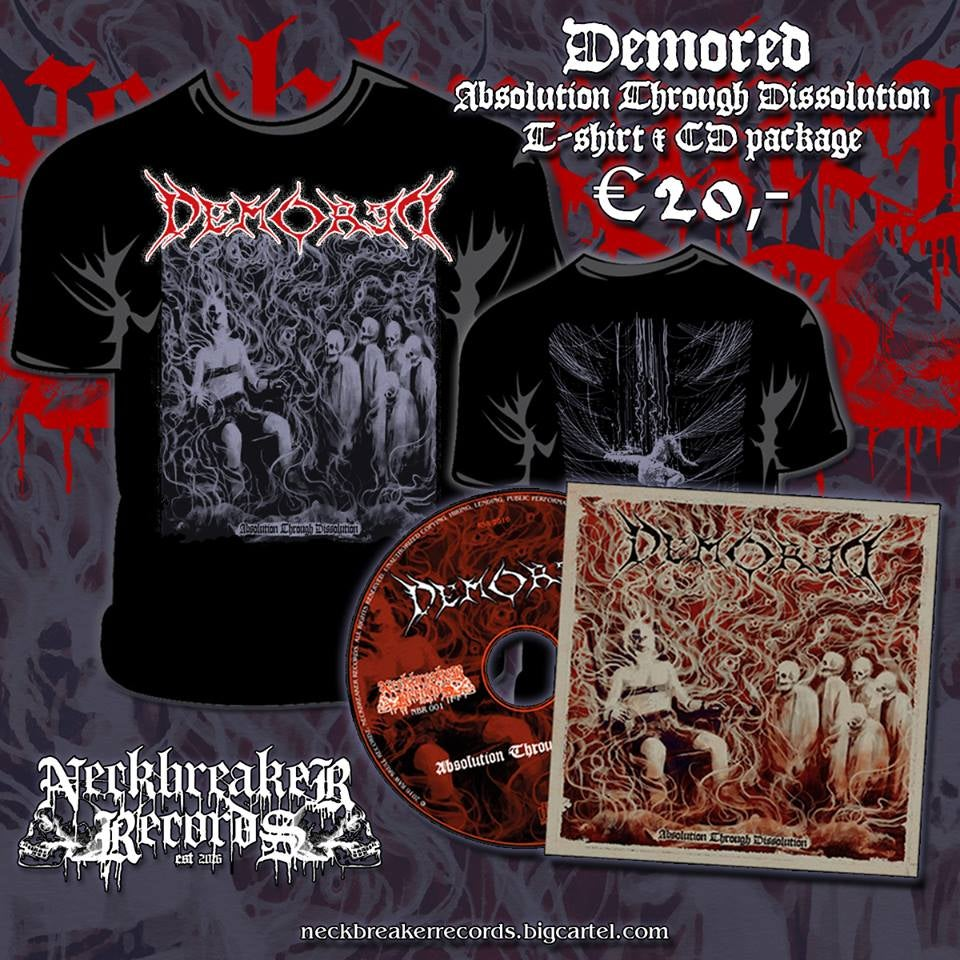 Image of Demored ''Absolution Through Dissolution'' CD+ T-Shirt Package Deal !