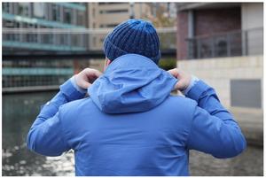 Image of CONNOISSEUR ANORAK - POWDER BLUE