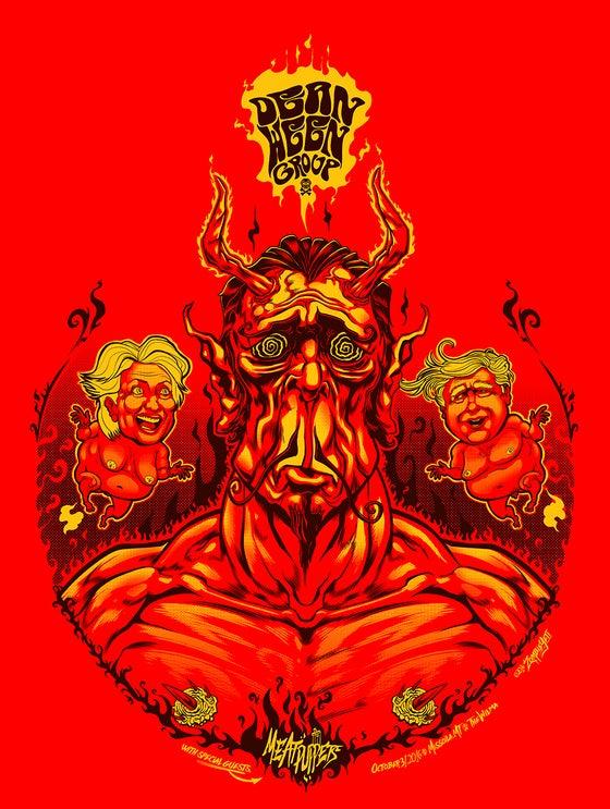 Image of Dean Ween Group Halloween Print