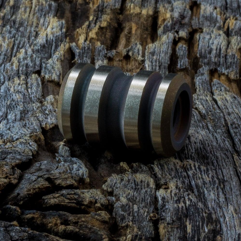 Image of Tank Blasted & Machined Bronze Bead