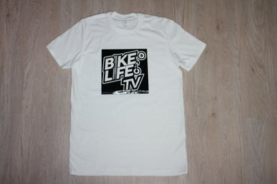 Image of BikeLife TV Square Gloss White Tee