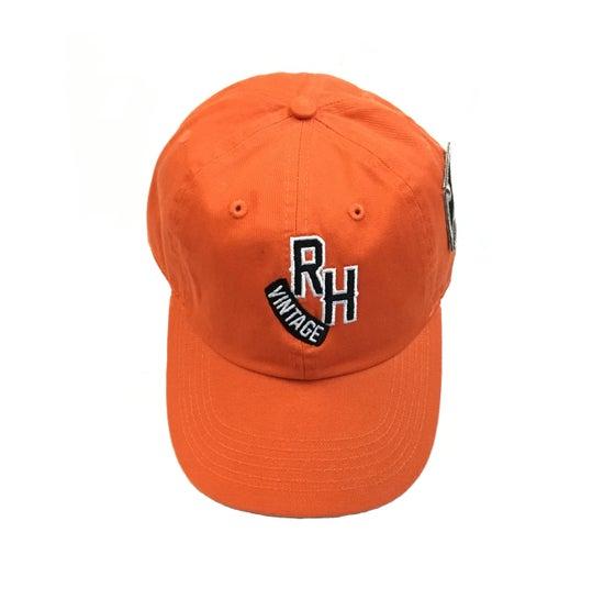"""Image of Rock Hard Vintage """"RH"""" Dad Hat """"Orange"""""""