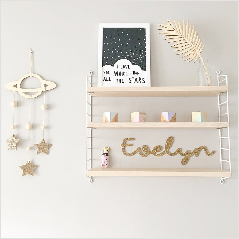 Image of custom Acrylic Name Sign Glitter Small