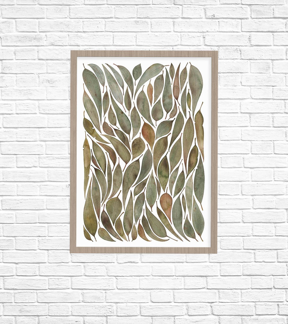 Image of Gathered Gum Leaves Fine Art Print