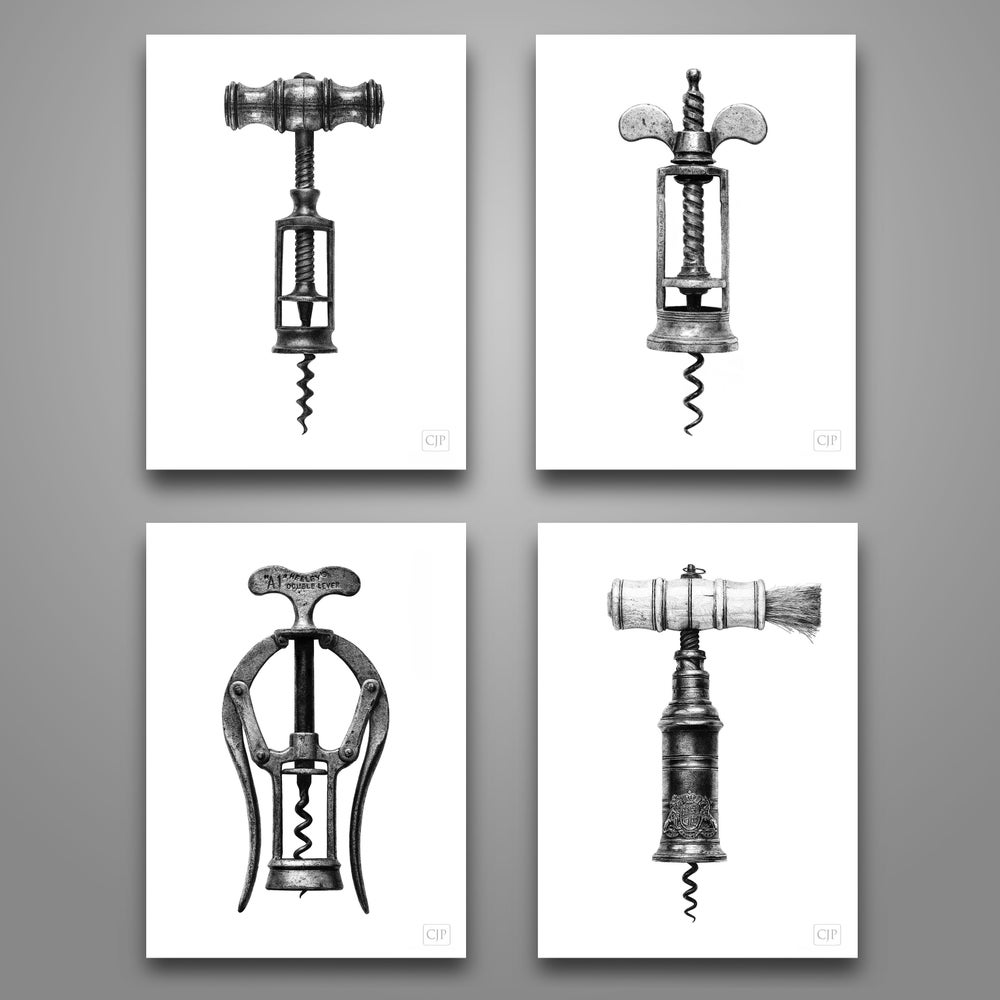 Image of Corkscrew Set Wall Art. From